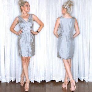 Petite Silver Banana Republic Silk Dress